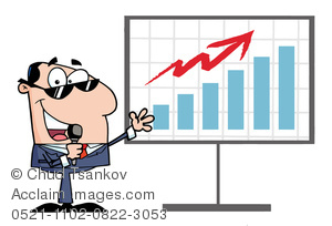 Graph clipart increase sale A an of a on