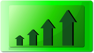 Graph clipart increase sale Image: a over increase green
