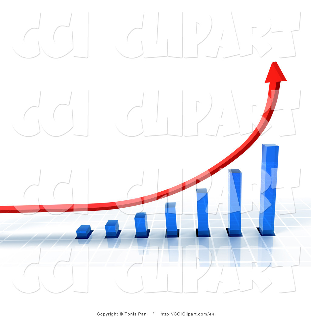 Graph clipart increase sale Art surface blue blue a