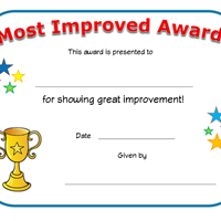 Graph clipart most improved Certificate Improved Award Network