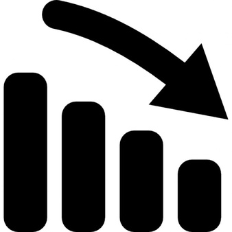 Graph clipart most improved PNG icons down in Charts