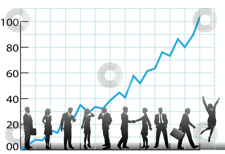 Graph clipart new business Team company chart team stock