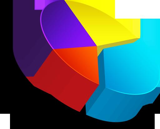 Graph clipart pie chart Free 3D chart Art Chart