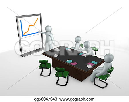 Graph clipart presentation Stock image gg56047343 table meeting