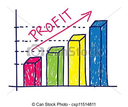Arrow profit Clipart chart