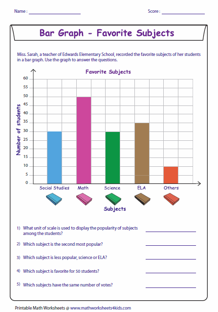 Graph clipart reading a Worksheets Bar Graph Level Reading