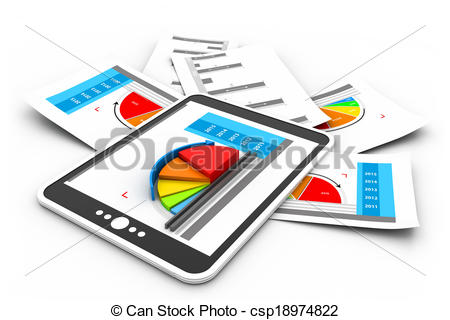 Graph clipart reports Reports Clipart Business graph csp18974822