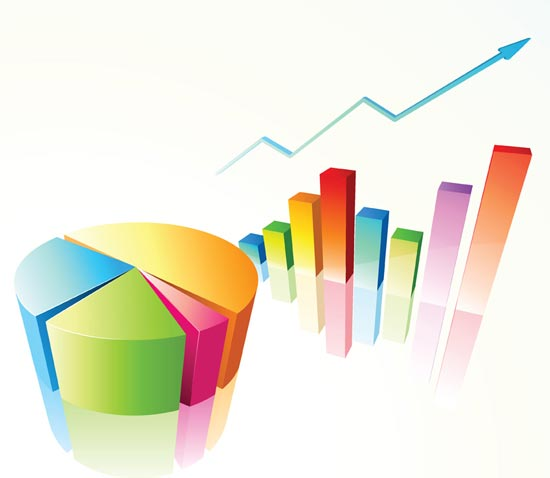 Graph clipart research finding Research arrow graph Market Chart