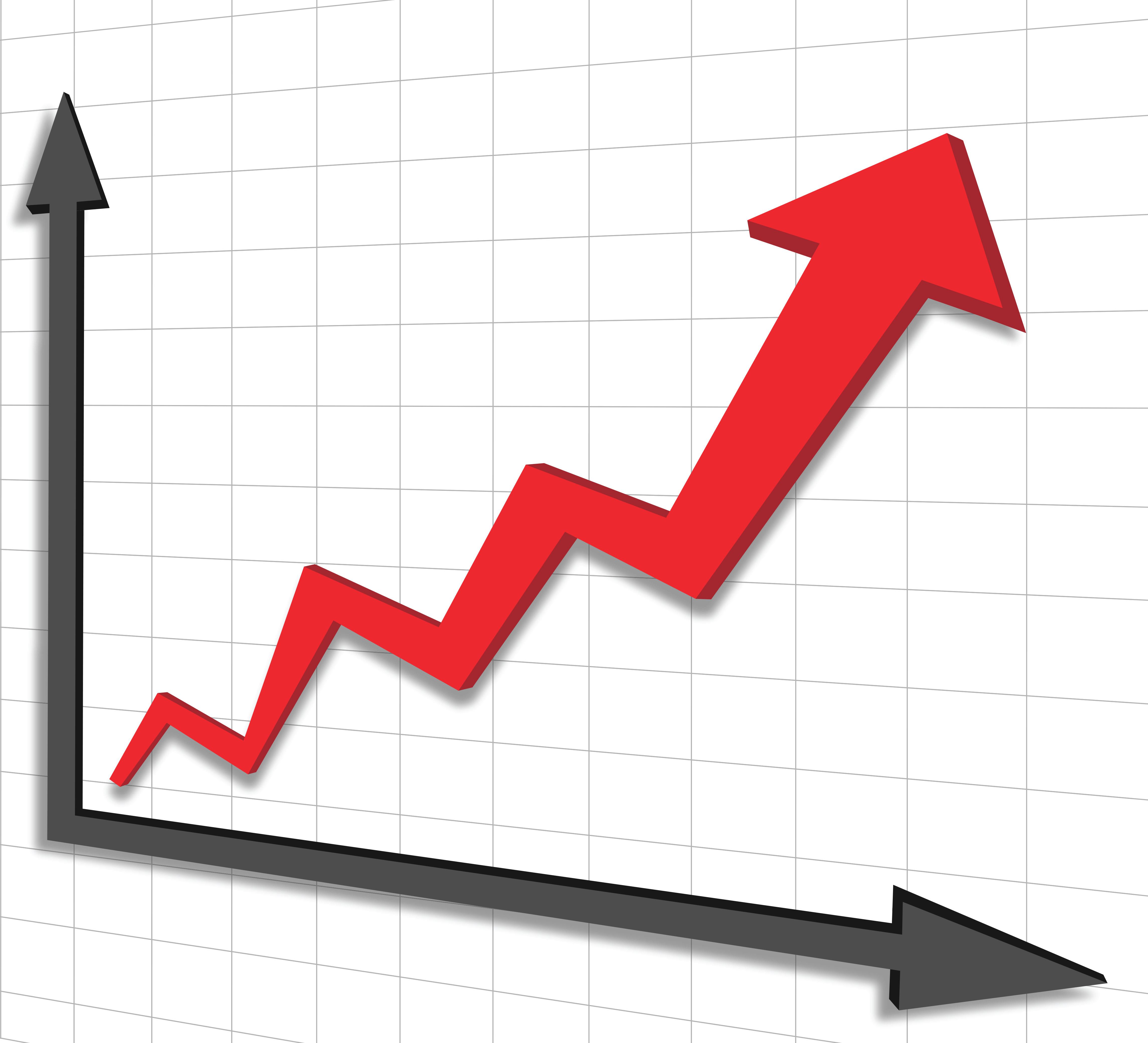 Graph clipart sale chart Clipart  Line Graph Increasing