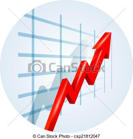 Graph clipart sale chart Arrow a on Upward trending