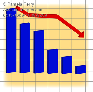 Graph clipart sale chart Bar Bar With Chart Down
