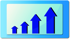 Graph clipart sale graph Growing A marketing chart a