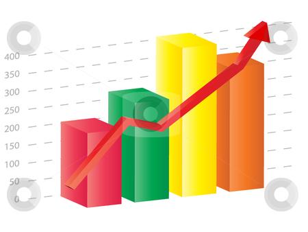 Graph clipart sales forecasting Vector Business 3d graph 3d