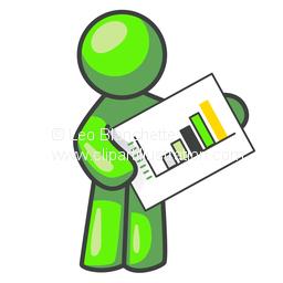 Graph clipart stock market rise Man Market  Mascot Chart