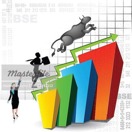 Graph clipart stock market rise Stock market Stock Illustrative