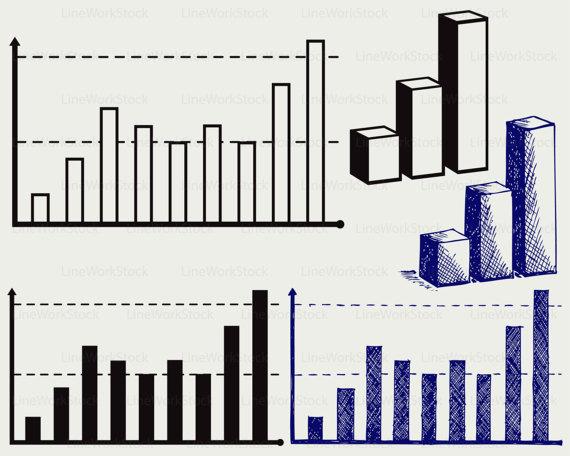 Graph clipart svg LineWorkStock business graph files graph