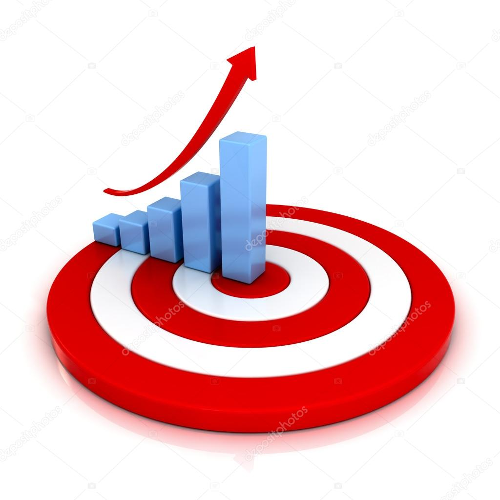 Graph clipart target Red over Photo arrow Business