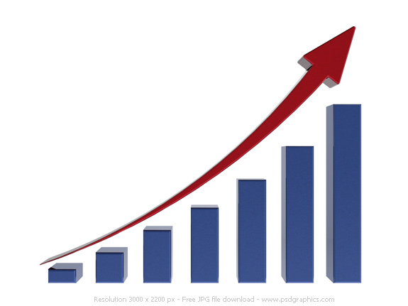 Graph clipart transparent Growth PSDGraphics chart Blue growth