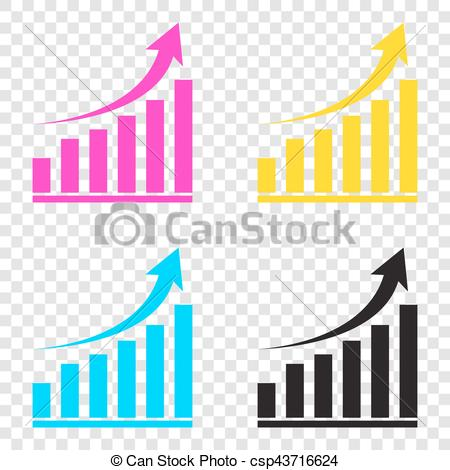 Graph clipart transparent background On CMYK graph Vector of