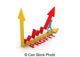 Graph clipart upward 17 3d man pushing Stock