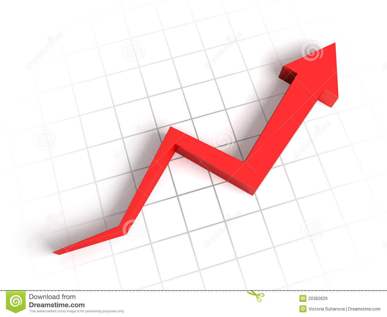 Graph clipart upward Upward Free  Arrow Vector