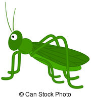 Grasshopper clipart  a Vector Clipart Grasshopper