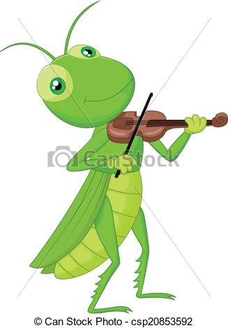 Cricket clipart singing #2