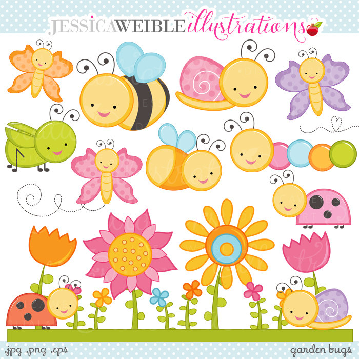Bugs clipart garden insect This Cute Commercial Use Like