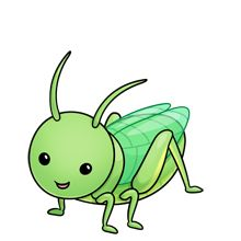 Bug clipart green grasshopper Art Grasshopper Cute Clip clip
