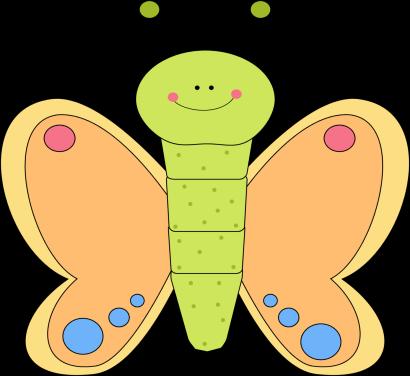 Orange Flower clipart cute cartoon Butterfly clip Butterfly Clip Cartoon