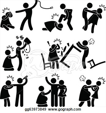 Violence clipart black and white Clipart Clipart Family Addiction Addiction