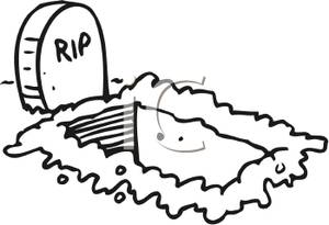 Grave clipart black and white Free Grave clip art collection