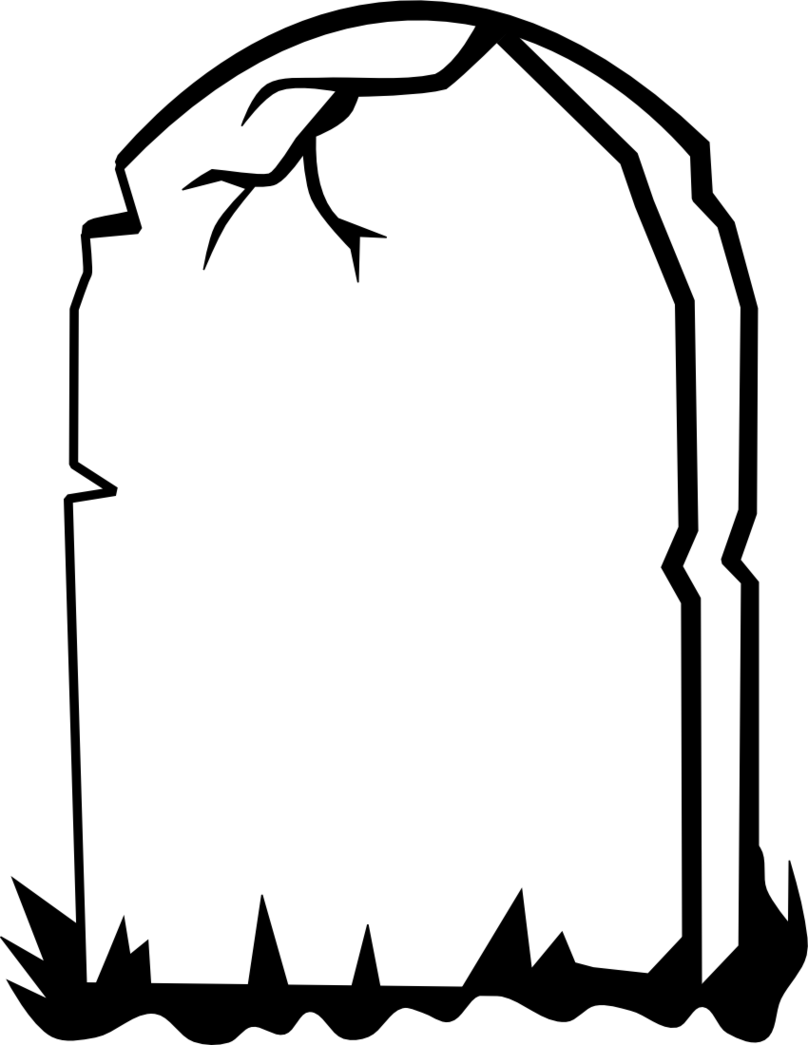Grave clipart black and white And Tombstone white Clipart Black