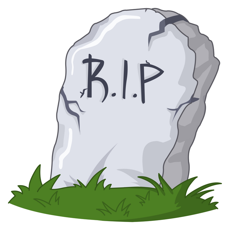 Grave clipart cartoon Blank Headstone Clipart Stock rip