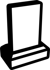 Grave clipart blank #11