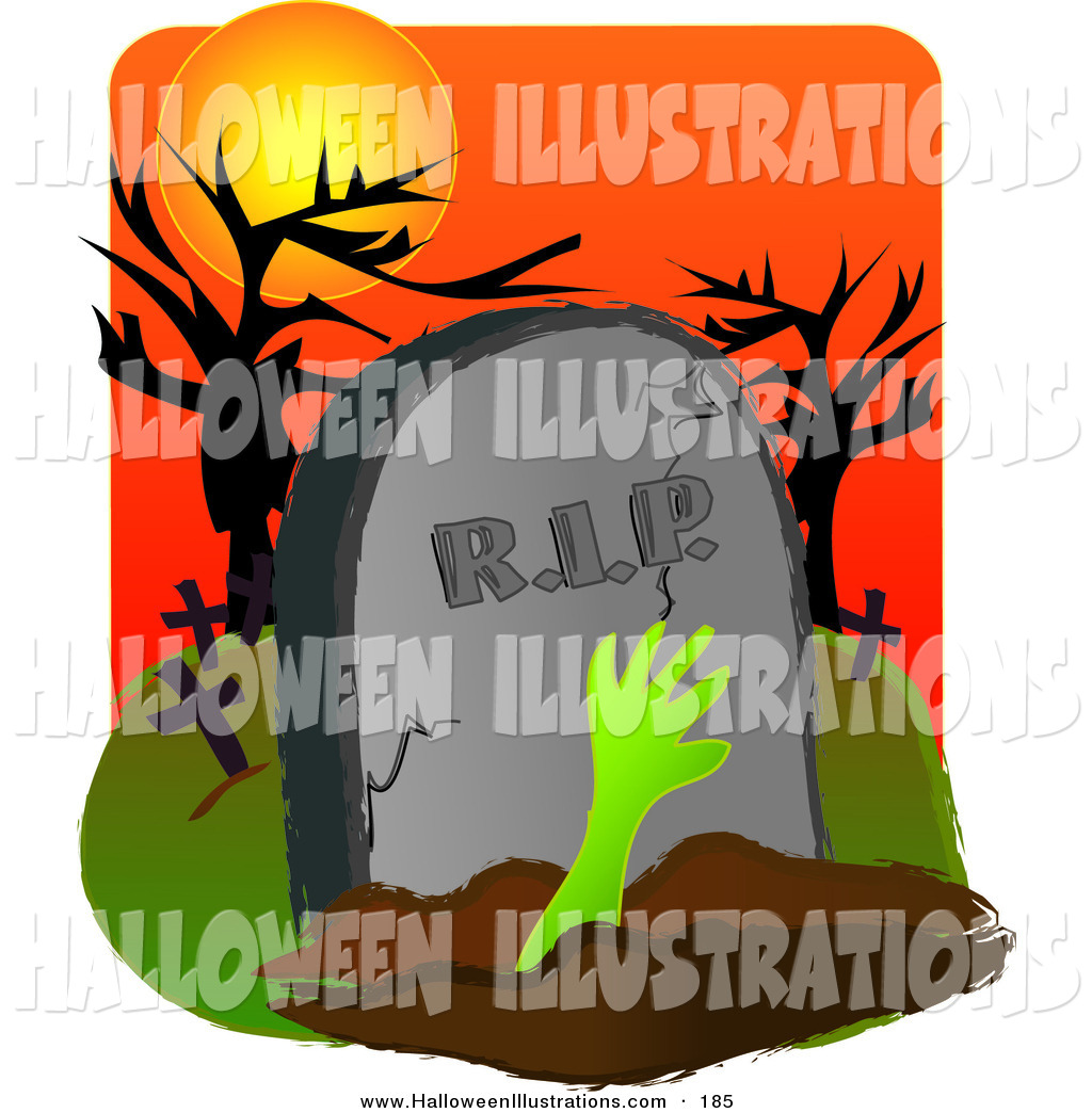 Grave clipart burial Front Royalty Stones a Cemetery