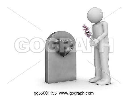 Grave clipart burial Art Stock bouquet by the