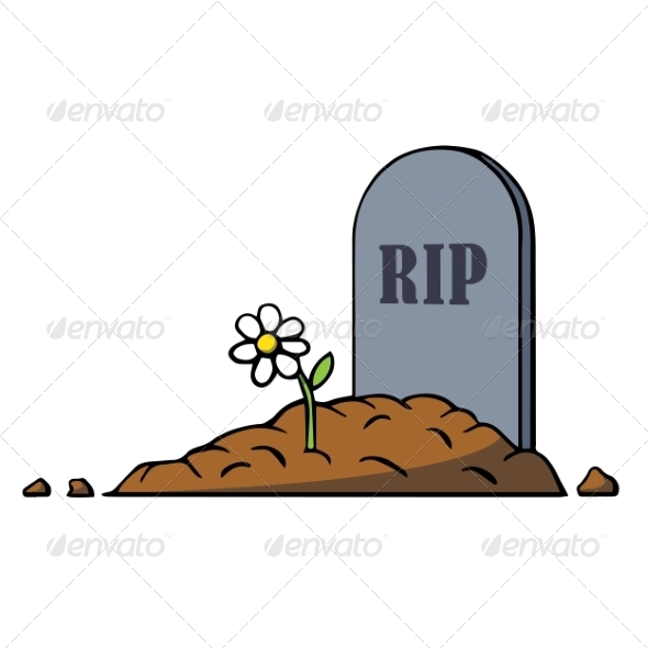 Grave clipart burial Objects GraphicRiver and Flower Man