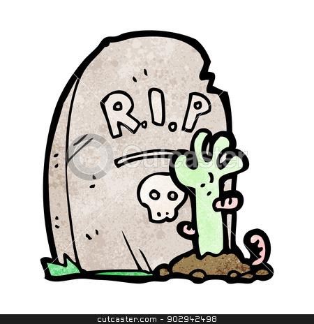 Grave clipart cartoon From cartoon stock zombie texture