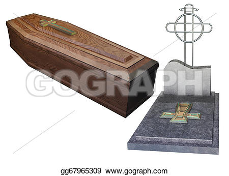 Grave clipart coffin And Drawing set set grave