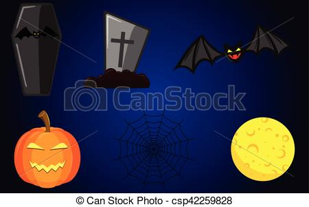 Grave clipart coffin Yellow  coffin Illustration bat
