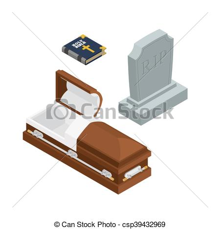 Grave clipart coffin Coffin dead Holy Bible Vector