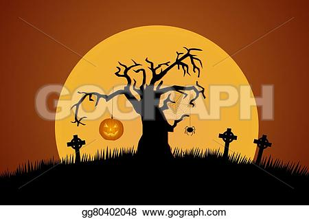 Grave clipart creepy Trees Stock gg80402048 A on