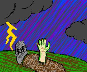 Grave clipart dead man Has MissArrowRunner) from has man