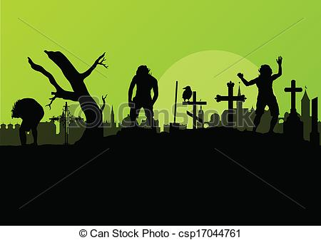 Grave clipart graveyard And Vectors  Spooky at