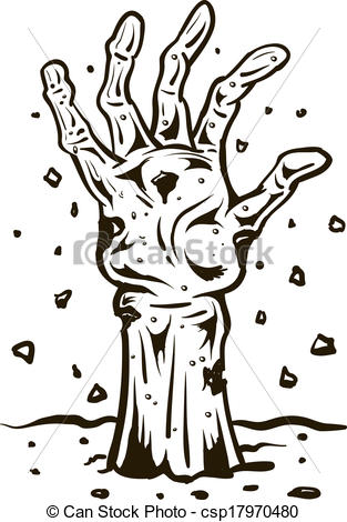 Grave clipart hand Hand of grave of Zombie