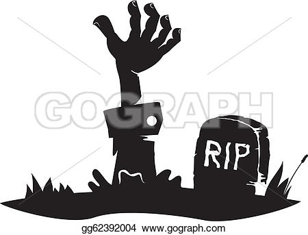 Grave clipart hand From Art grave EPS icon