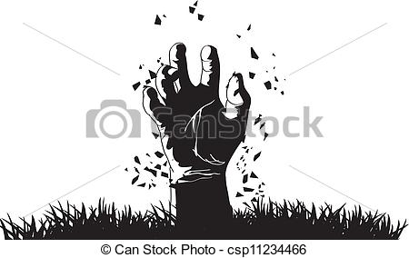 Grave clipart hand Csp11234466 out grave Vector of