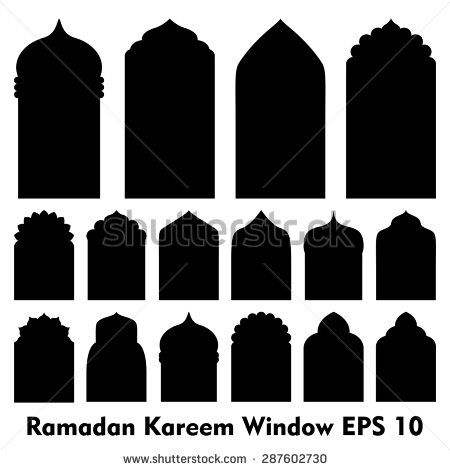 Windows clipart silhouette Door and shapes window Islamic