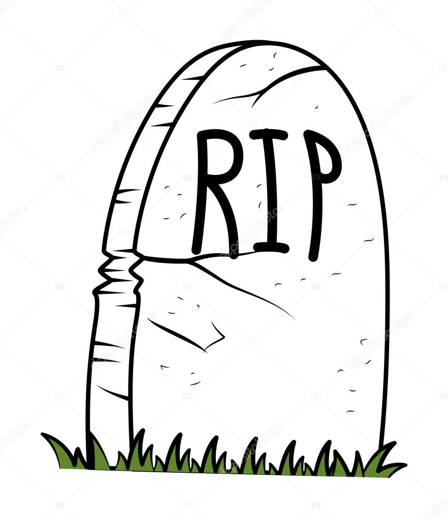 Grave clipart rest in peace In Art Vector  Illustration
